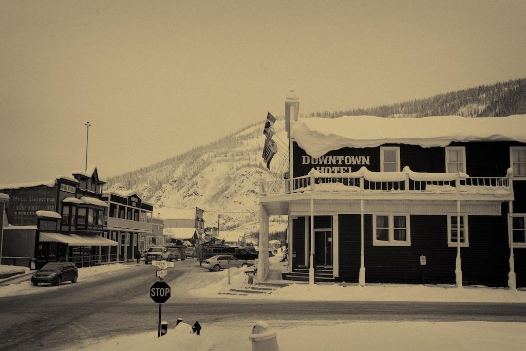 Dawson City was built nearly